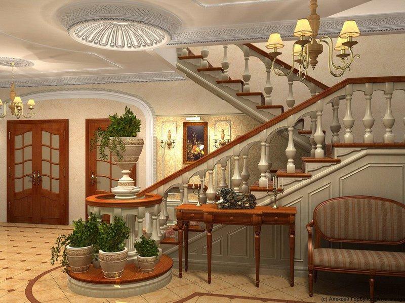 лестницы для коттеджей фото интересного