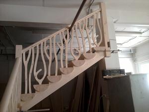 Строительства лестниц из сруба