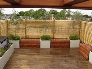 Бамбуковое ограждение террасы