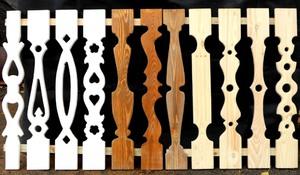 Плоские балясины прекрасно подойдут для балкона или веранды.