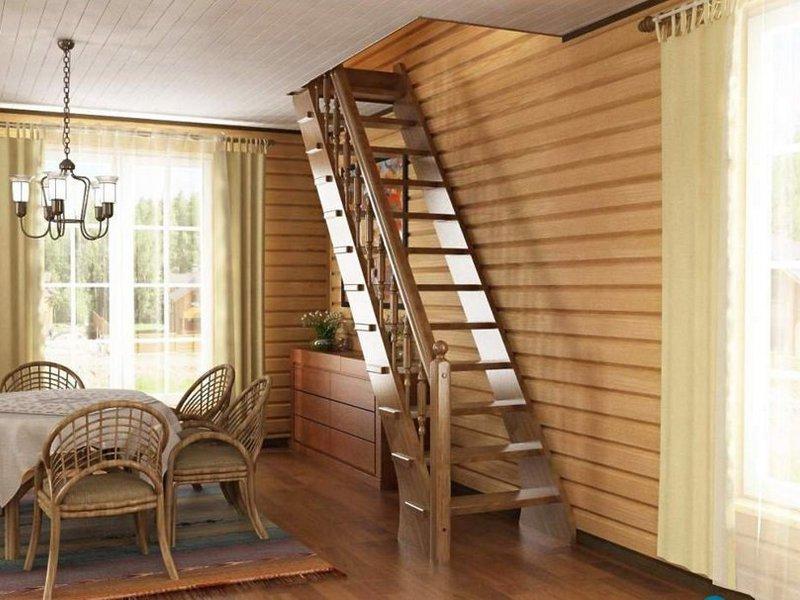 Лестницы на второй этаж в частном доме с улицы своими руками
