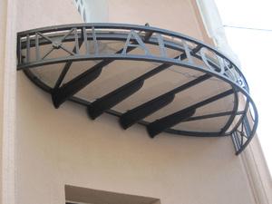 Дизайн навеса над входом