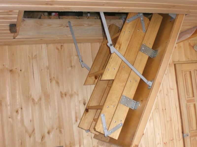 Лестница на чердак своими руками чертежи