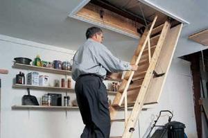 Как сделать чердачную лестницу 510