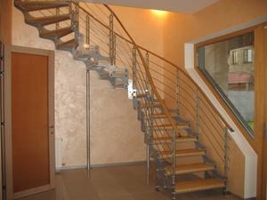 Перила для лестницы из дерева купить недорого в Москве