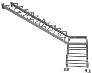 Расчет и замер лестницы
