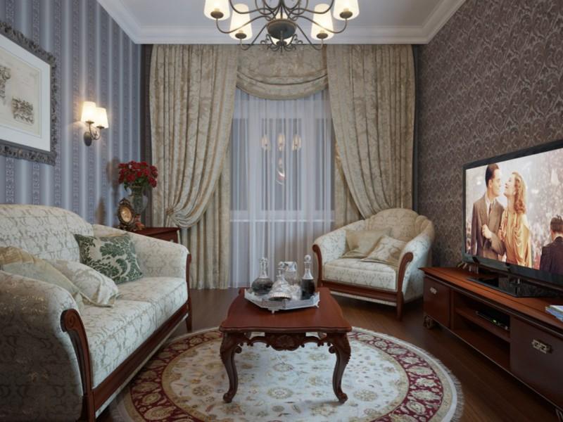 Интерьер гостиной в частном доме фото эконом класса