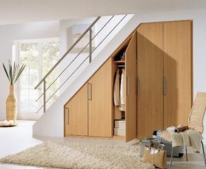 Варианты оборудования пространства под лестницей фото: кухня, встроенный шкаф купе и другие варианты
