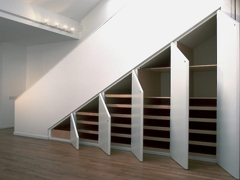 Как под лестницей сделать шкаф