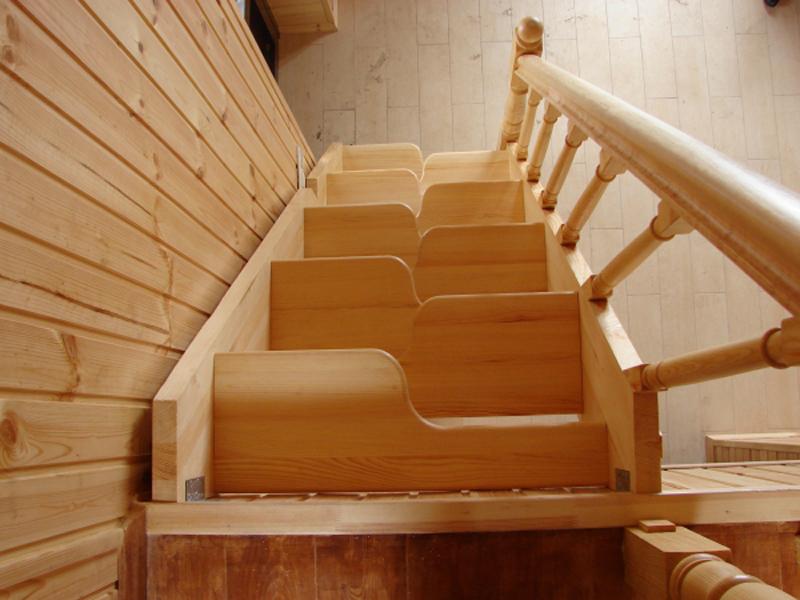 Лестница на второй этаж утиный шаг своими руками