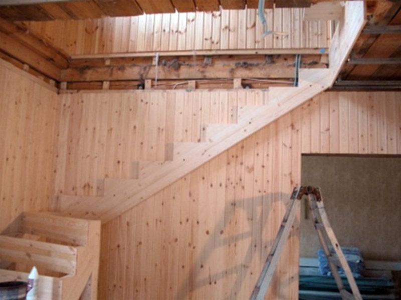 Изготовление лестницы своими руками фото 190