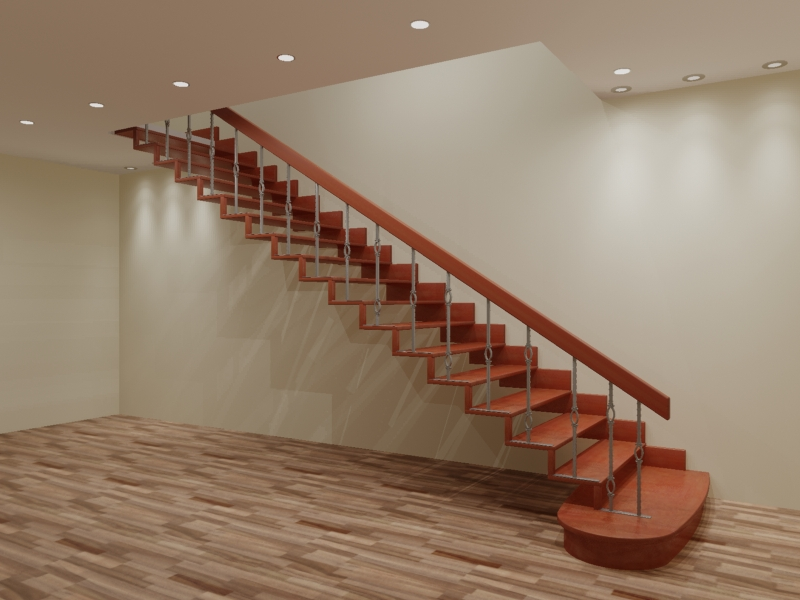 Лестница своими руками прямая