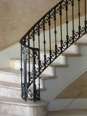 Ковка перила классические для лестниц: великолепное кружево металла