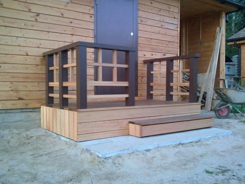 Деревянное крыльцо к дому своими руками проекты фото
