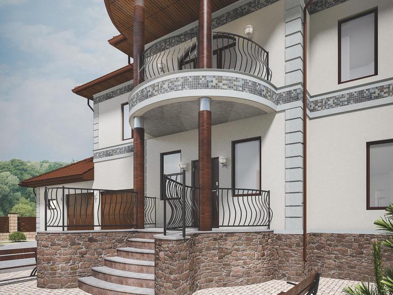 лестница входная в дом фото